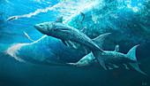 Rebellatrix prehistoric fish, illustration