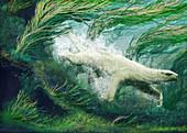 Thalassocnus aquatic sloth, illustration