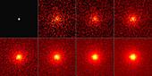 Moon's gamma ray glow, Fermi image