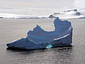 Sculpted remnant of an iceberg in Antarctica