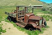 Abandoned car, Bannack ghost town, Montana, USA