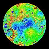Northern hemisphere of Mercury, radar image