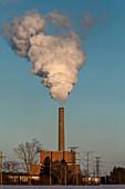 Energy power plant, Michigan, USA