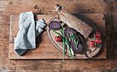 Cloth bound salami