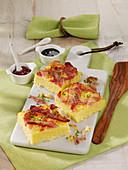 Westphalian savoury cake with jam and turnip tops