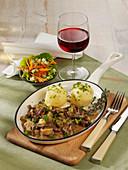 Westfälisches Rouladen-Geschnetzeltes mit Kartoffelklößen