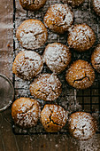 Butter cookies with powdered sugar
