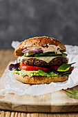 Vegeterian Burger with Avocado and Chilli Mayonnaise