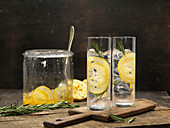 Lemon and Rosemary Water