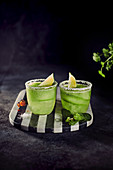 Cucumber tequila with lime