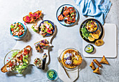 Summer party dishes
