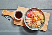 Sushi bowl (Japan)