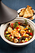 Seafood ragout in a tagine
