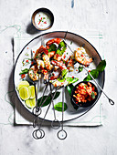 Spice Alley Grilled Coconut Prawns With Lime Leaves