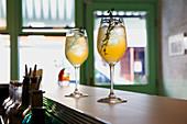 Elderflower Cocktail on Bar