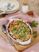 Roast stuffed vegetable rolls