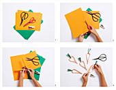 Papiermöhren-Girlande basteln