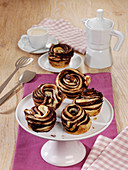 Cruffins with chocolate filling