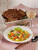 Vegetarian spelt rice carrot stew