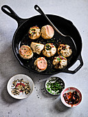 Pan Fried and Steamed Tawainese Baozi Buns