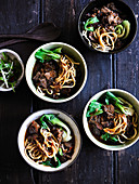 Taiwanese Beef and Noodle Soup with Hot Bean Paste