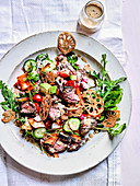 Towering Beef Salad With Sesame Dressing