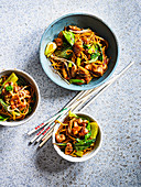 Mee Goreng Noodles with Chicken and Bok Choy