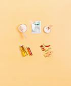 ingredients for preserving – salt, oil, vinegar, gelling agents, spices