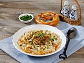 Austrian pretzel soup