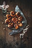 Simple chocolate star bread