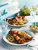 Chicken Shish Kebab with Couscous Tabbouleh