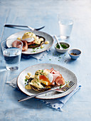 Eggs Benedict with Grilled Mushrooms and Spinach