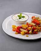 Orientalisches Ofengemüse mit Minzjoghurt