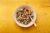 Indian cucumber and tomato salad