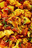 Indian potato and cauliflower curry