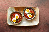 Indian egg curry with tomato sauce