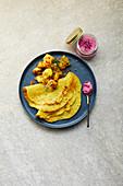 Indian lentil pancakes