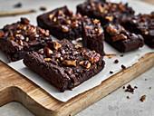 Sweet potato brownies with walnuts