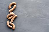 Raw sausages (Bratwurst)