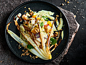 Chinese cabbage salad with fruits