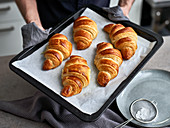 Home-baked croissants fresh out of the oven