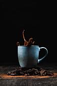 Hot chocolate splash