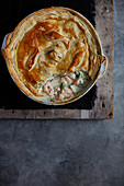 Fish pie with spinach