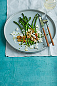 Asparagus and feta salad with buttermilk dressing