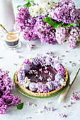 Blueberry curd cake