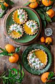 Tangerine curd tartlets