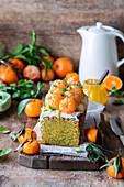 Tangerine poppy seed cake
