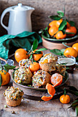 Tangerine poppyseed muffins with pistachios