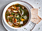 Colorful cabbage soup