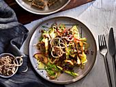 Lukewarm Maultasche salad